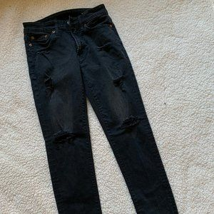 American Eagle distressed jeans, black distressed